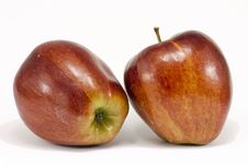 Free Two Ripe Red Apples Stock Image - 23460611