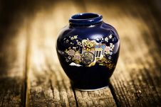 Little Vase Decorated Stock Photo