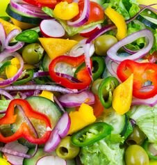 Free Chopped Vegetables Stock Images - 23462464