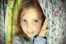 Free Portrait Of Blond Girl Stock Photos - 23464023