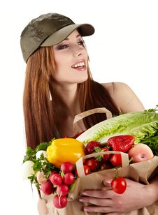 Free Healthy Lifestyle Fruit Shopping Stock Image - 23464541