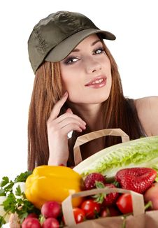 Healthy Lifestyle Fruit Shopping Stock Photo