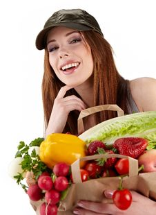 Free Healthy Lifestyle Fruit Shopping Stock Photo - 23464870