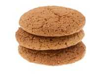 Free Cookies On  Isolated Royalty Free Stock Photo - 23465175