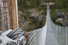 Free Yukon Suspension Bridge Royalty Free Stock Photos - 23468148