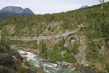 Free Yukon Suspension Bridge Royalty Free Stock Photo - 23468185