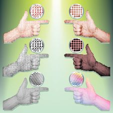 Pointing Hands Set Vector Royalty Free Stock Photos