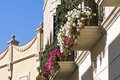 Free Balcony Decorated With Flowers Stock Photo - 23470040