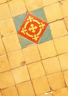 Free Vintage Tile Floor Royalty Free Stock Photos - 23472618