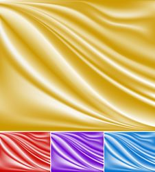 Abstract Golden Wave Background Royalty Free Stock Image