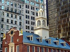 Old State House In Downtown Boston Stock Photo