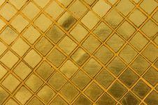 Free Gold Tile Mosaic Background Royalty Free Stock Photo - 23473565