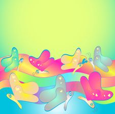 Free Rainbow Butterfly Background Stock Images - 23477044