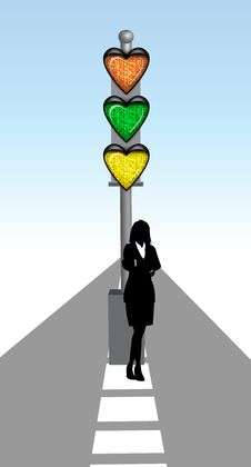 Free Lady With Love Signal Stock Photos - 23477603