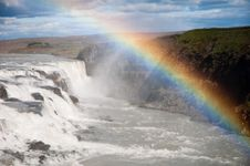 Free Waterfall With Beautiful Rainbow Stock Images - 23478884