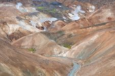 Colorful Mountains In Iceland Royalty Free Stock Images