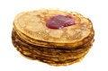 Free Pancakes With The Raspberry Jam Stock Photo - 23485920