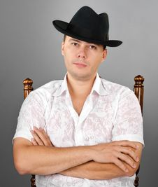 Free Portrait Of Young Man In A Hat Stock Photo - 23480100