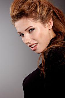 Free Woman Portrait Studio Shot Royalty Free Stock Images - 23481239