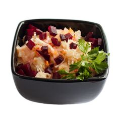 Free Sauerkraut Close In The Square Salad Bowl Stock Images - 23481554