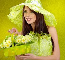 Beautiful Spring Woman Royalty Free Stock Image