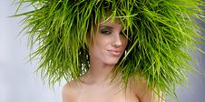 Free Woman, Green Concept Royalty Free Stock Image - 23482696