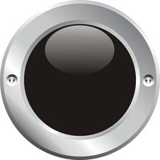 Silver Button Royalty Free Stock Photography