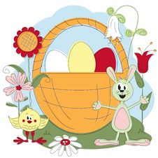 Free Easter Greeting Card Stock Images - 23483384