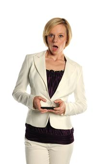 Young Businesswoman Text Stock Photography