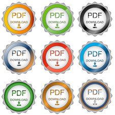 Free Nine Pdf Download Icons Stock Photo - 23484910