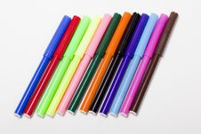 Free Bright Markers On White Stock Image - 23486981