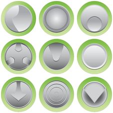 Free Button Set Stock Image - 23487801