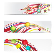 Free Abstract Colorful Web Banner Set. Stock Image - 23487911