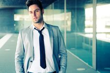 Free Attractive Young Businessman In Office Building Royalty Free Stock Photos - 23488598