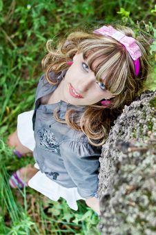 Free Portrait Smiling Teenage Girl Royalty Free Stock Photo - 23488875