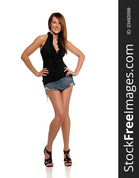 80f74bd09 Young Woman Wearing A Mini Skirt - Free Stock Images & Photos ...