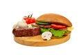Free Sandwich On Cutting Board Royalty Free Stock Photos - 23498488