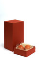 Free Two Fresh Brown Eggs In Box Stock Photography - 23499062