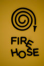 Free Fire Hose Symbol - For Emergency Stock Image - 23499281