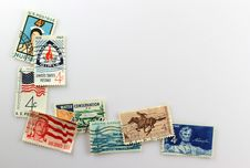 Free Vintage Postage Stamps Royalty Free Stock Images - 23491549