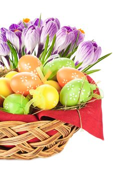 Free Easter Eggs Spring Flowers Royalty Free Stock Photos - 23492038
