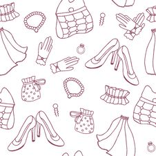 Graphic Wedding Seamless Pattern Stock Photos