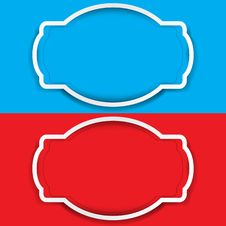 Free Vector Set Of Frame Colored Blue And Red Royalty Free Stock Photo - 23492495