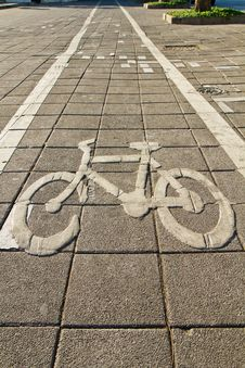 Bike Lane Way Stock Photo