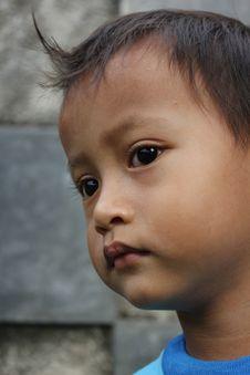 Little Boy Sad Stock Photography