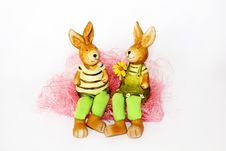 Free Toy Easter Rabbits In Love Stock Photos - 23495813