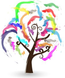 Colorful Tree Stock Photos