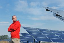 Free Male Solar Panel Engineer At Work Place Royalty Free Stock Image - 23497706