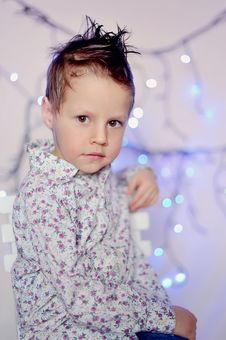 Free The Child And A Garland Stock Photos - 23498423