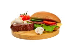 Free Sandwich On Cutting Board Royalty Free Stock Photos - 23498488